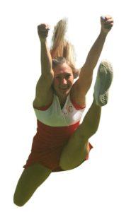 Cheerleading Hurdler Jump
